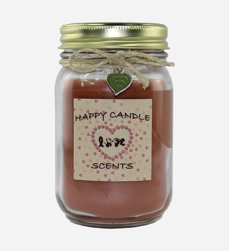 Indian Sandalwood 16 oz Handmade highly scented mason jar candle