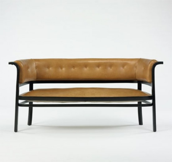 Marcel Kammerer, Beech and Leather Settee for Thonet, c1910. - 30 Best Chapel Bench Images On Pinterest Benches, Settees And