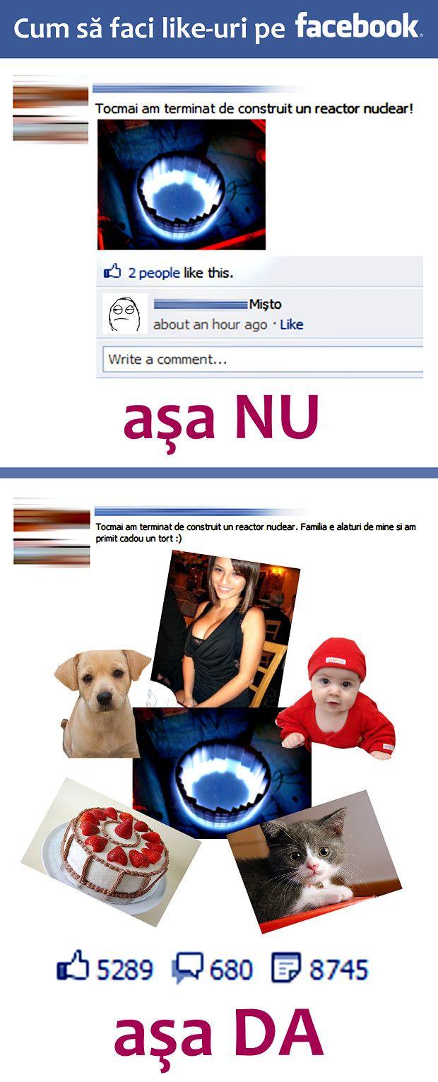 Cum să faci like-uri pe Facebook (I)