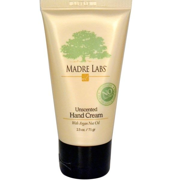 Madre Labs, Hand Cream, With Argan Nut Oil, Unscented, 2.5 oz (71 g)