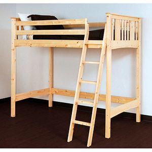 Canwood Base Camp Loft Bed Natural