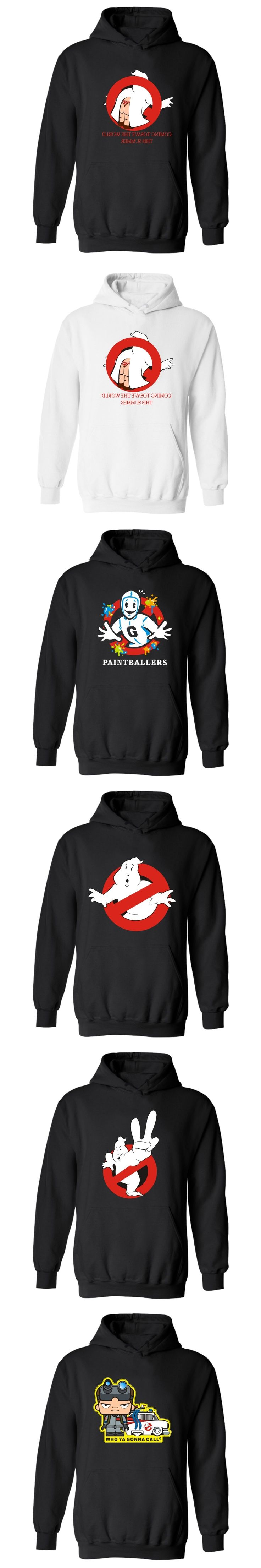 Ghostbusters Hooded Winter Hoodies Men Casual Fashion Black Sweatshirt Men Hip Hop Casual Funny RPG Game Plus Size 4XL Clothes