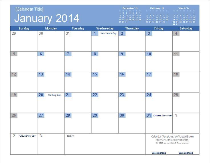 2014 Calendar Editable An Easy To Edit 2014 Calendar Template