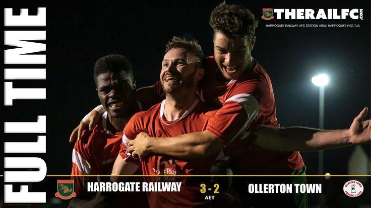 FT: Harrogate Railway 3-2 Ollerton Town (AET)    @therailfc @Ollertontown_fc @EdWhite2507