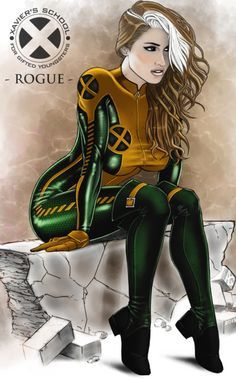 Rogue - I've always liked her green  outfits the best. Funny that, I hate to wear green myself.