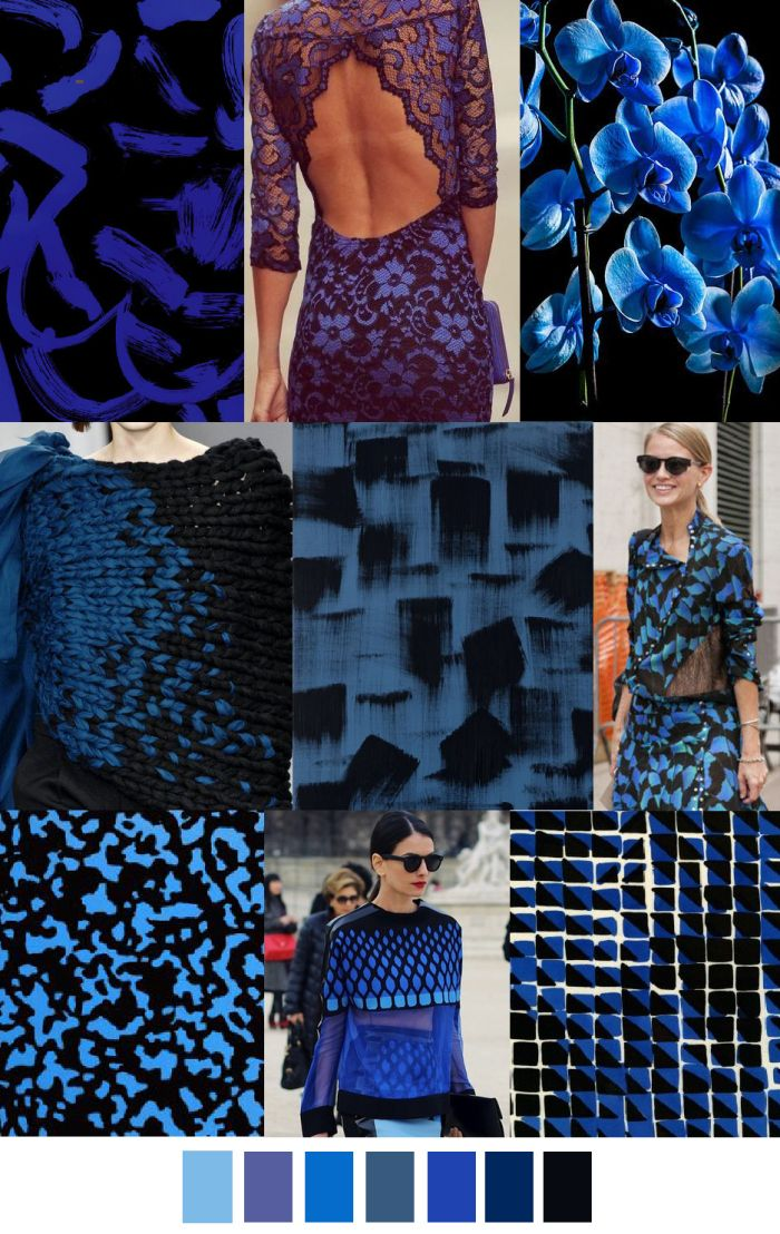 Black and electric blue. Grab their attention, use traditional website colors. #colorswatches