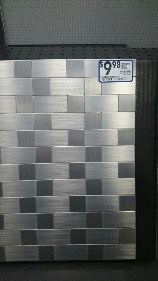 stainless steel backsplash tiles on pinterest stainless backsplash