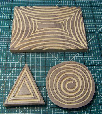 ellen vargo ... ten thirty-six art: Hand Carved Stamps