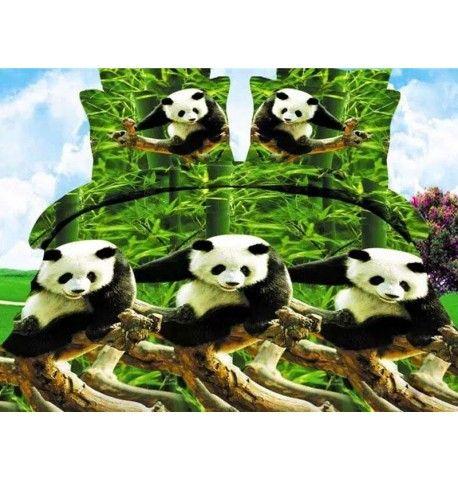 Pandas - cama de matrimonio