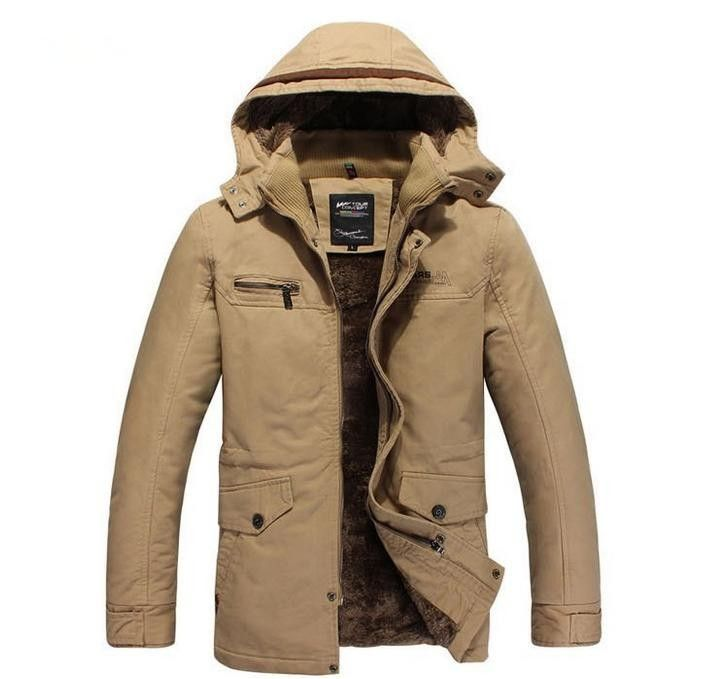 Free Shipping 2013 New winter Men thick Jacket with fur Top quality super warm Plus size M-XXXL Wholesale&Retail MWM113 $56.99
