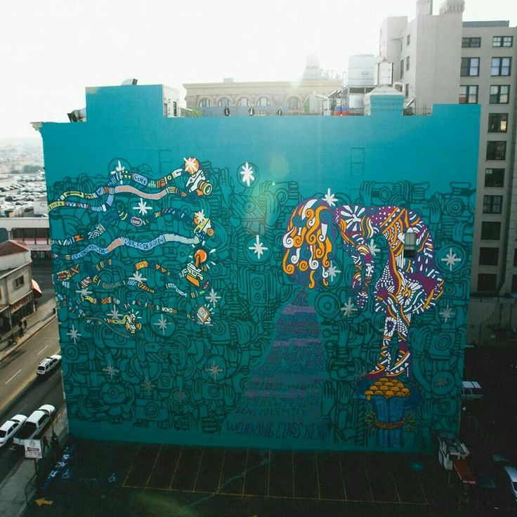 A beautiful street art for an even more beautiful work. Foster The People's new album, Supermodel. Need to take a listen!