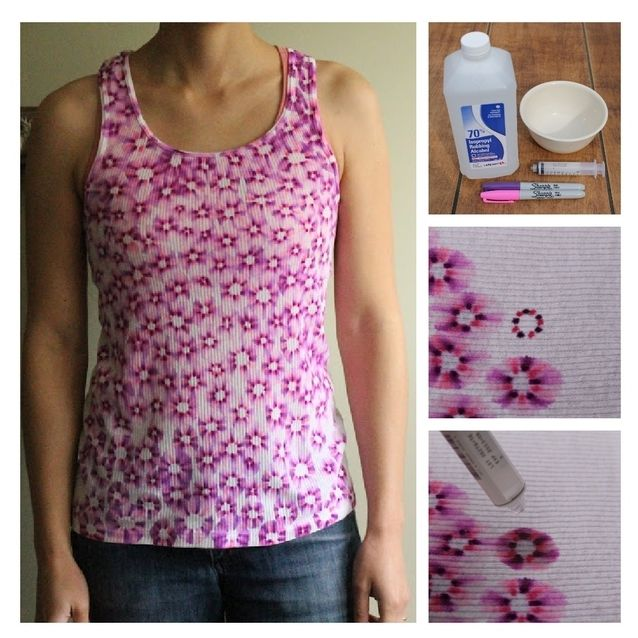 Decorate a tank top or t-shirt with Sharpies and drops of Rubbing Alcohol, could do pattern or a simply single image.