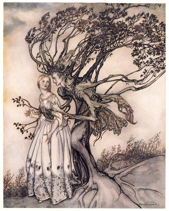 Arthur Rackham's 1917 Illustrations for the Brothers Grimm Fairy Tales