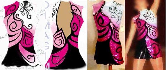 Con Falda - Diseño, confección y pintado de mallas deportivas.