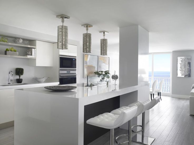 Best This Stunning White Contemporary Kitchen Was Completed By 400 x 300