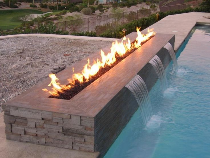 Modern Outdoor Fireplace Design For Your Inspiration in rectangular swimming pool with waterfall modern rectangular swimming pool designs in small backyard…