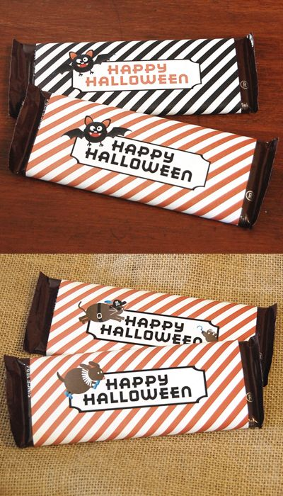 4 Free Halloween Candy Wrapper Downloads. Easy & Fun!