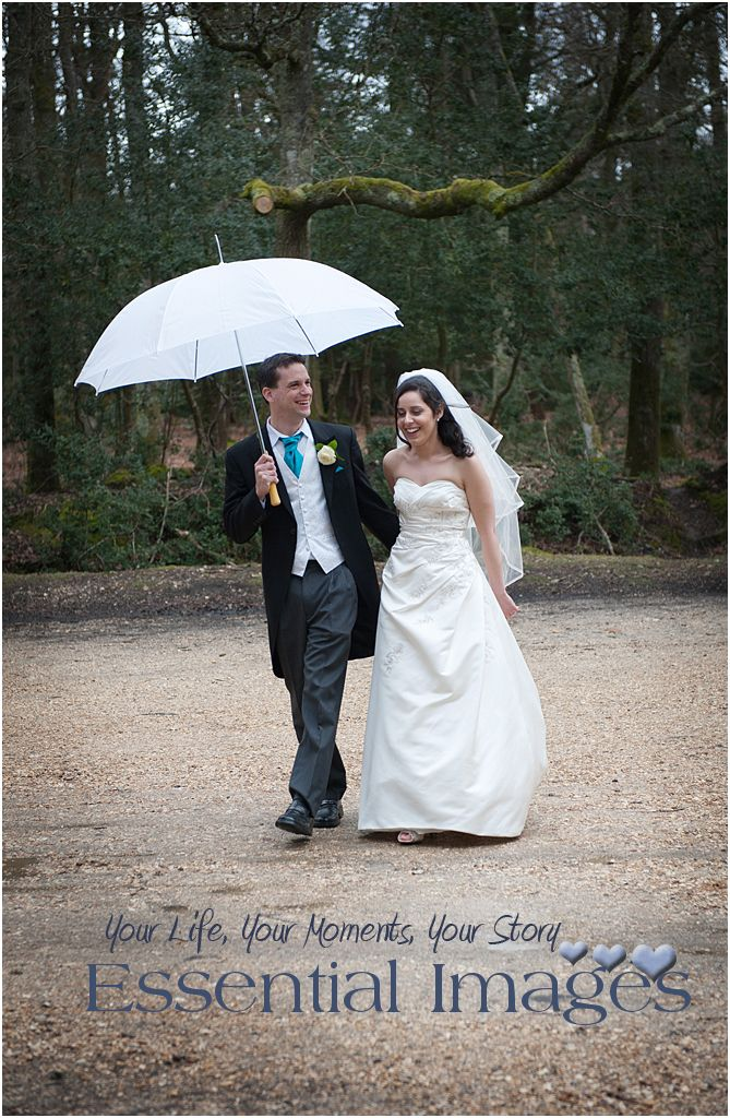 New Forest Wedding Photographers: May 2013 Laughing in the rain together on your wedding day!