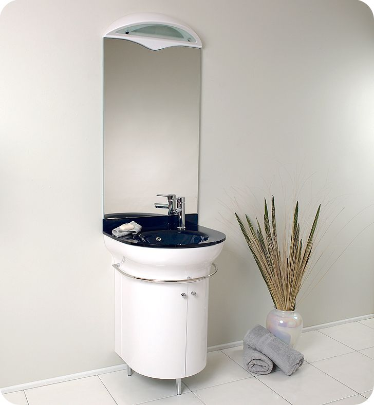 Image Gallery For Website Fresca Calmo White Modern Bathroom Vanity with Mirror http