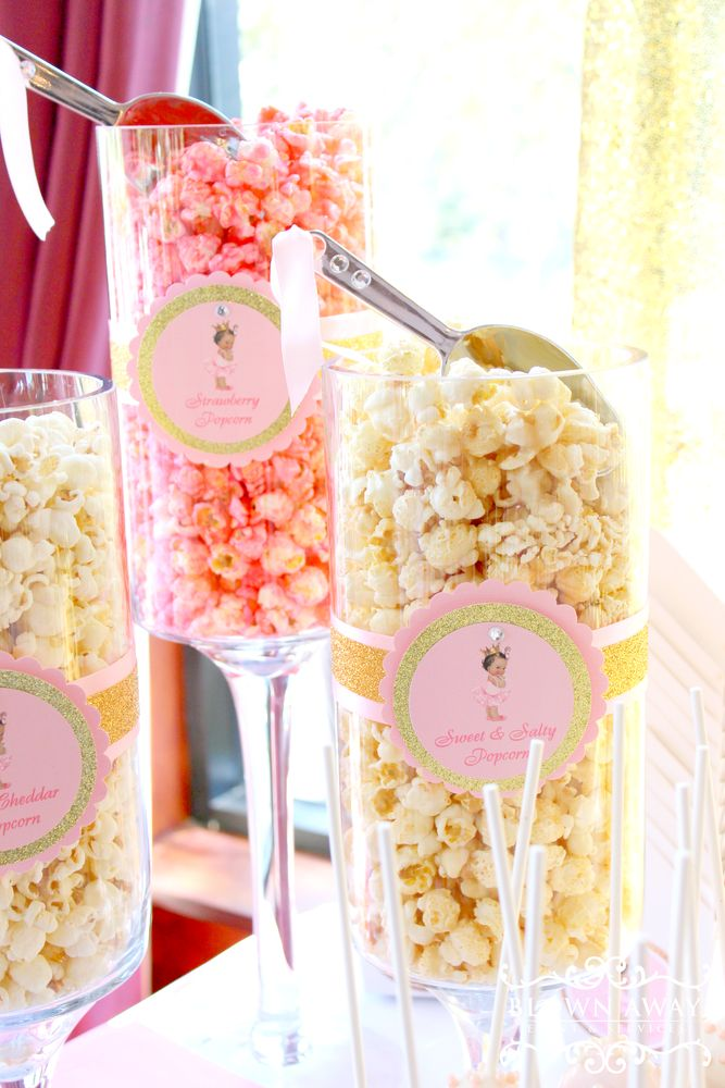 You don't want to miss this gorgeous dessert table for a beautiful princess baby shower! See more party ideas and share yours at CatchMyParty.com