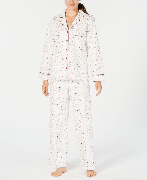 7ea38dc876 Macy s Women s Petitte Flannel PJ-Cardinal- 26.24
