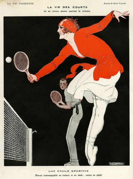 30 Tennis-Themed Magazine Covers Throughout History: La Vie Parisienne, 1921