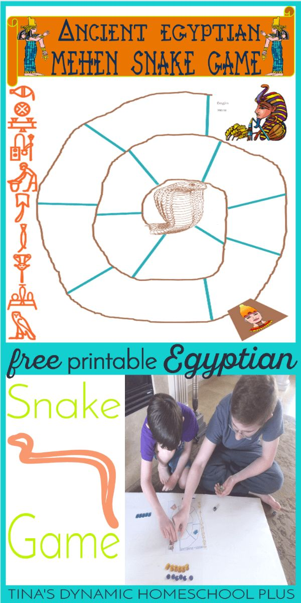 Grab this free and fun printable board game when studying Ancient Egypt. The game is called Mehen which is a snake game for hands on history.