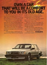 Volvo 740 GLE Ad: Own a Car That Will Be a Comfort