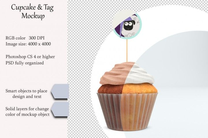 Download Cupcake Tag Mockup Product Place Psd Object Mockup By Natalydesign
