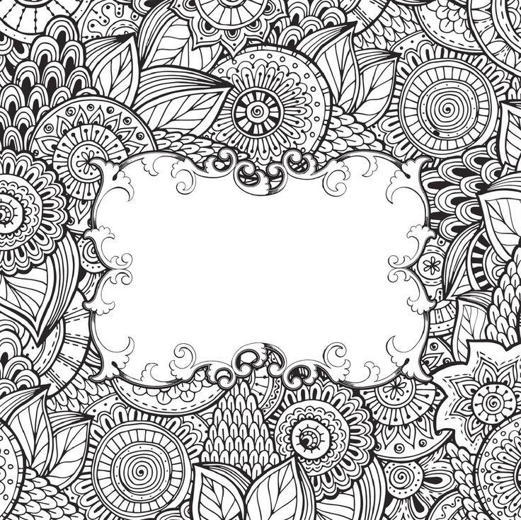 Черно-белые картинки для раскраски антистресс