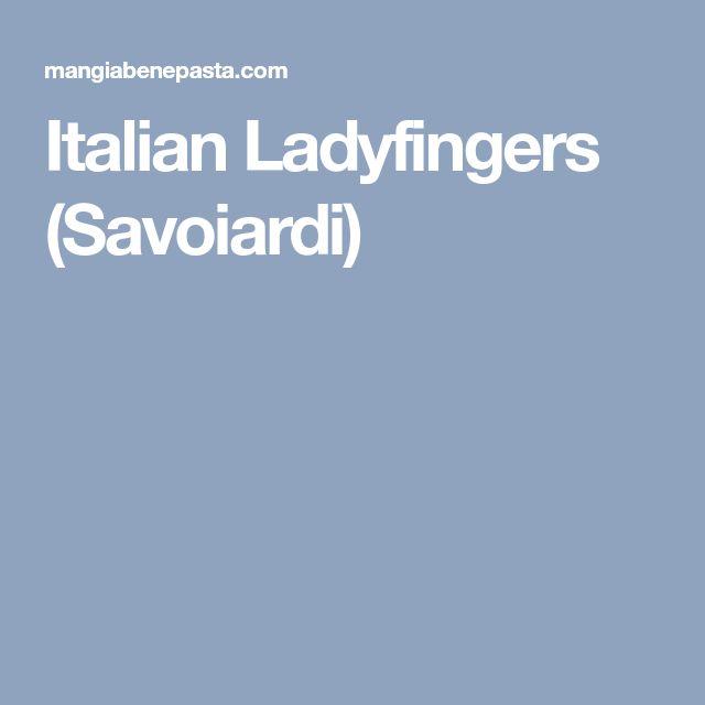 Italian Ladyfingers (Savoiardi)