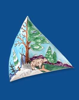 Compare seasons with a changeable folded-paper triarama. Also use a triarama for a hundred other things!