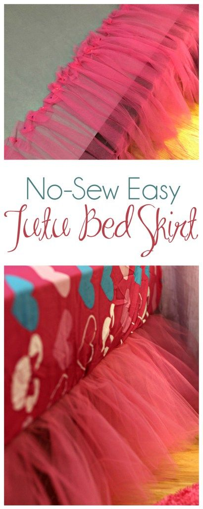 No-Sew Tutu Bed Skirt #MinnieMe #ad