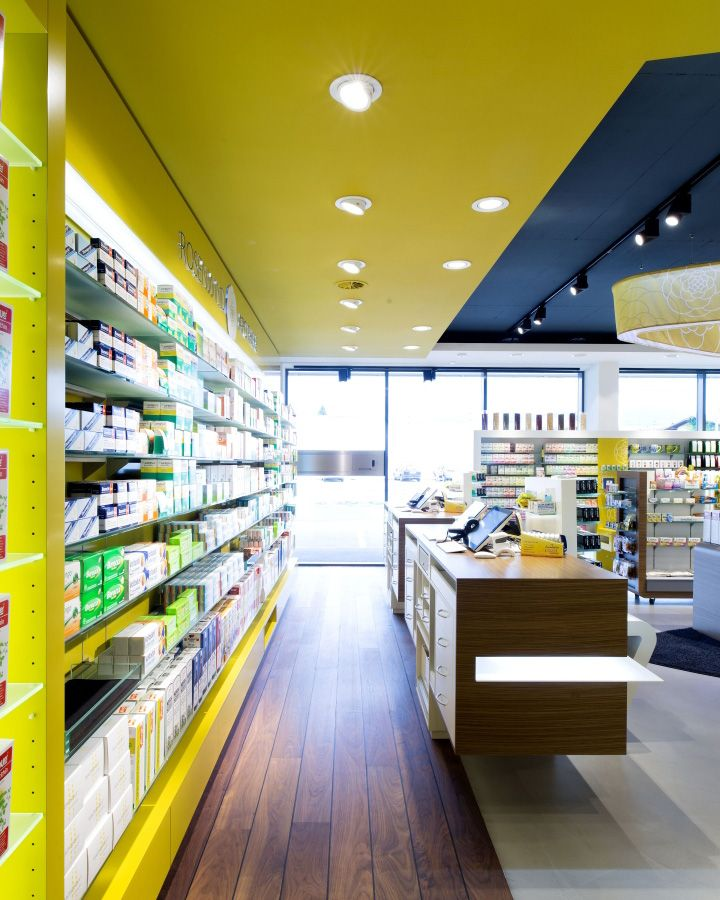 Rosenwind Pharmacy by UniversalProjekt, Seewalchen – Austria » Retail Design Blog