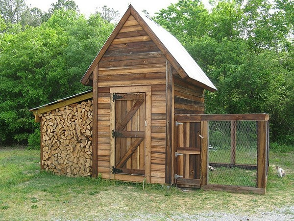 chic chickens kristenliberty    Ohhh my homesteading dreams are just buzzing over this. Chickens and firewood <3