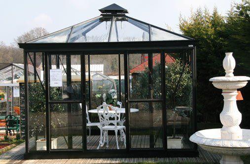 Glaspavillons mit Walmdach 309 cm - 677 cm