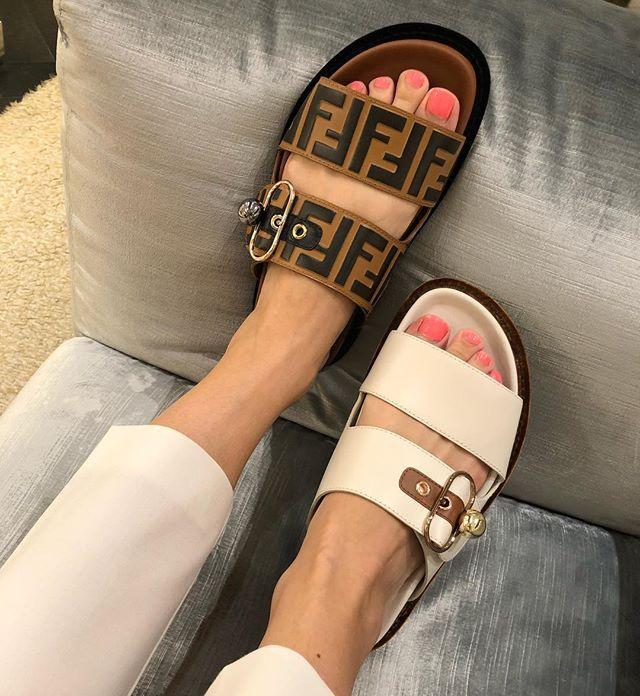 Fendi Slide   Designer shoes, Fashion