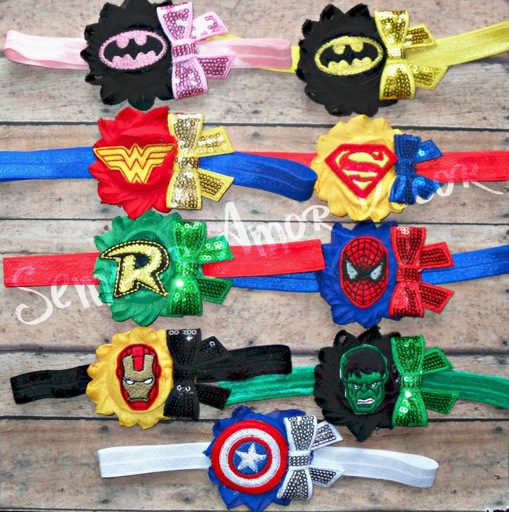 Superhero Headband, Marvel Headband, Villain Headband by SemperAmorDecor on Etsy https://www.etsy.com/listing/236372364/superhero-headband-marvel-headband