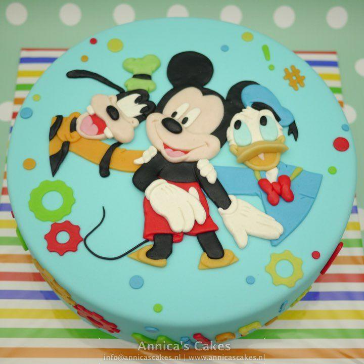 Mickey, Goofy, Donald taart / cake