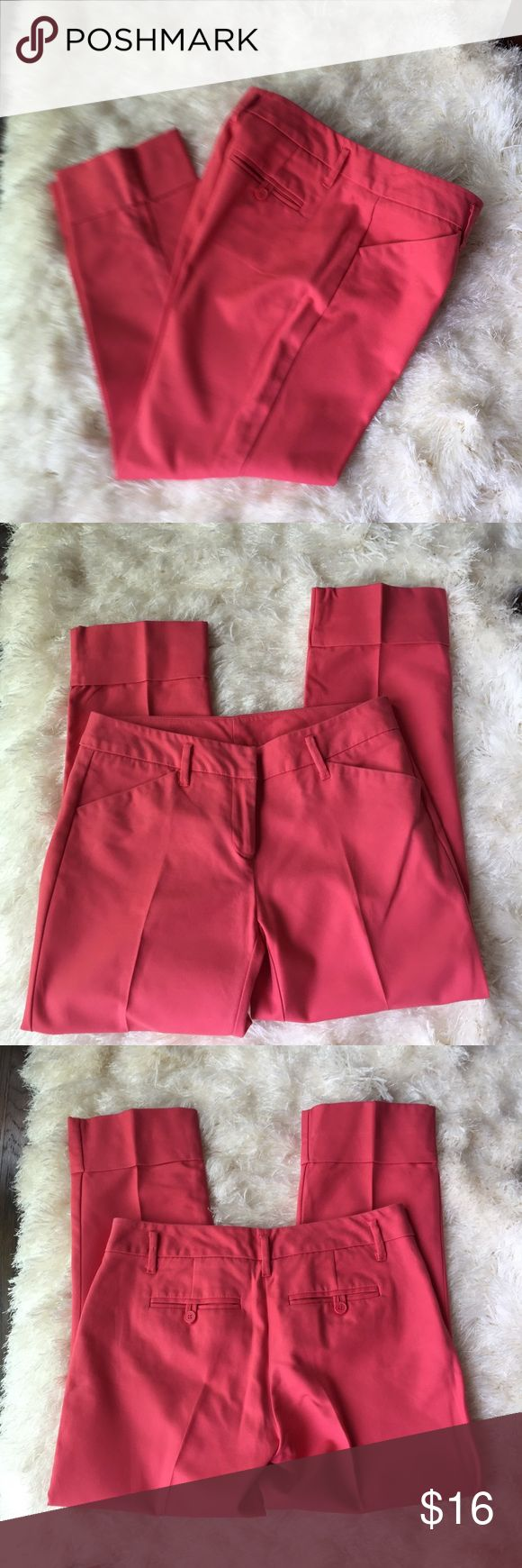 "New York & Co coral capris. Size 2. Vibrant coral capris size 2. Waist measures 30"", inseam is 25"". New York & Company Pants Capris"