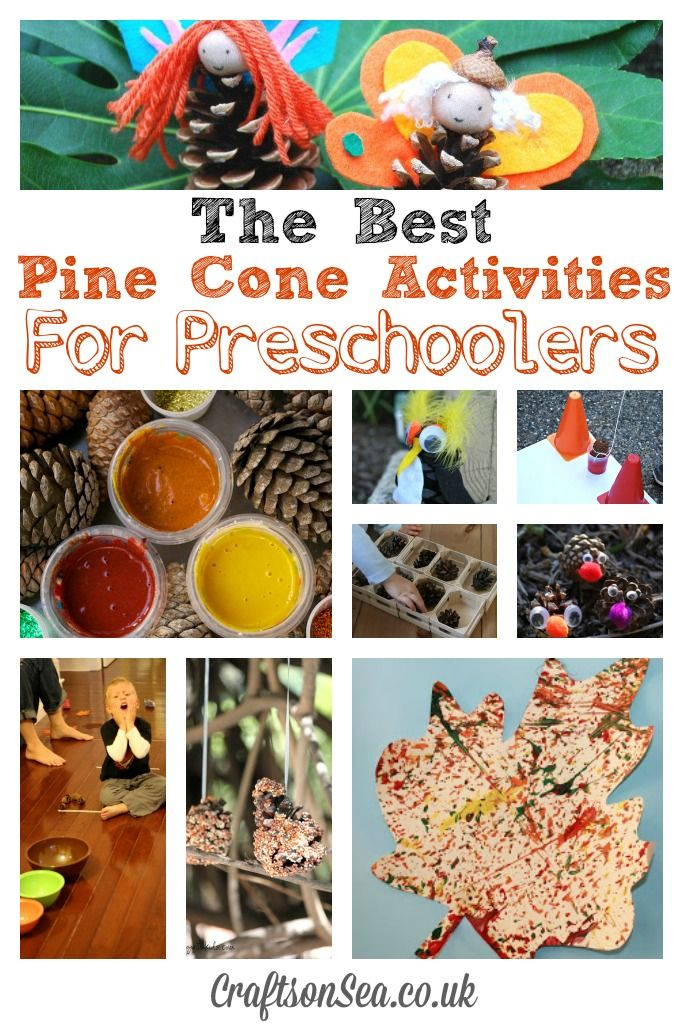 Get inspired with these pine cone activities for preschoolers and have fun making some great autumnal and fall crafts!