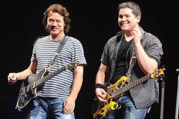 Eddie Van Halen and His son Wolfgang...
