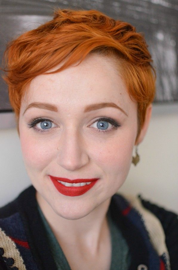 Ginger hair - Just stunning, porcelain skin, bright blue eyes, crimson lips all of this works #redheads