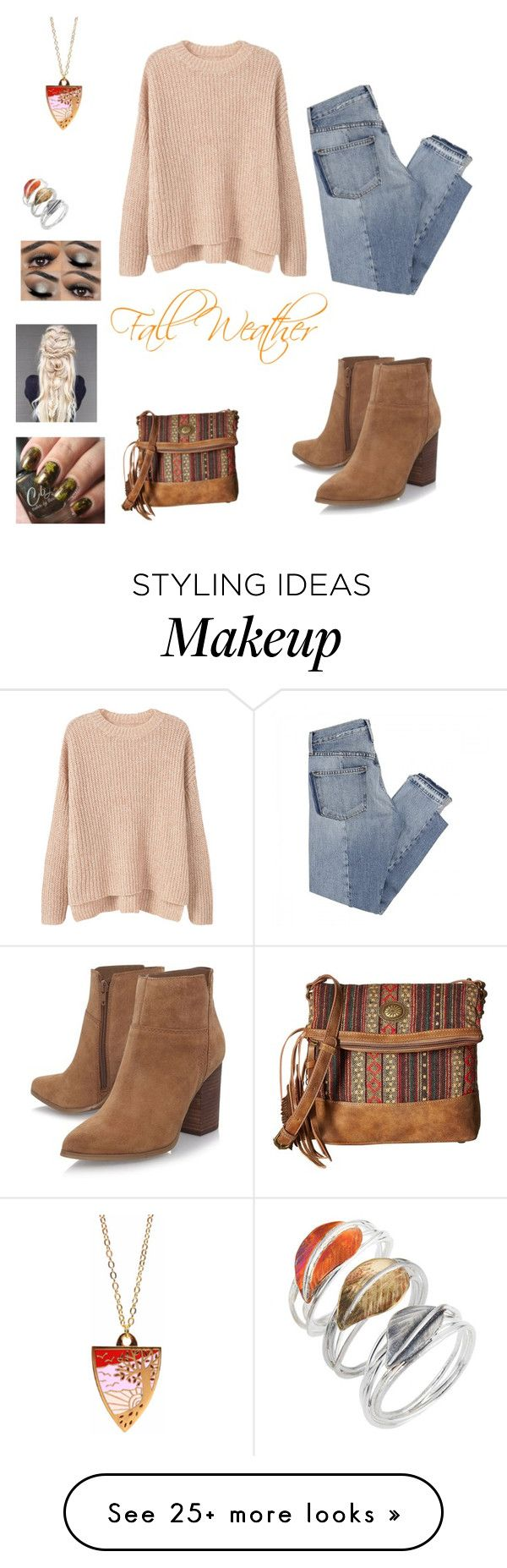 """""""Fall Weather"""" by jtandks on Polyvore featuring Caroline Royal, MANGO, Mix Nouveau, Nine West, Bonbi Forest and American West"""