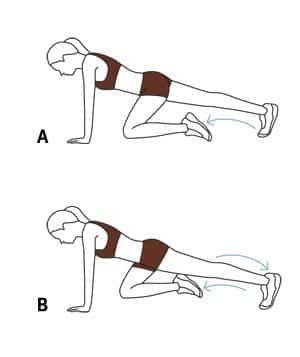 1 série de 15 à 20 fois par jambe en tenant 30 secondes  Source : http://www.realsimple.com/health/fitness-exercise/workouts/plyometric-exercises/plyometrics-workout-3