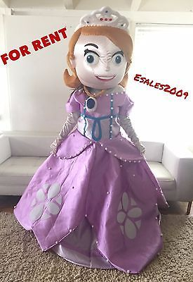 RENT Sofia The First Mascot Fancy Costume Cartoon Adult Birthday Party Halloween