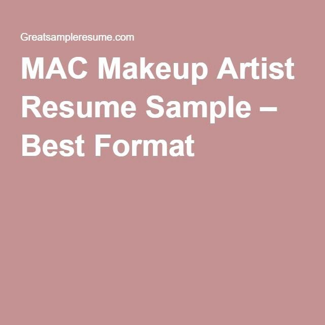 Makeup Artist Resume Examples Lovely Mac Makeup Artist Resume Sample Best Format Projects To Try Pinter Makeup Artist Resume Artist Resume Mac Makeup Artists