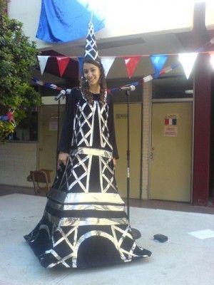 Handmade Halloween Costumes: Eiffel Tower Costume | Craftster Blog