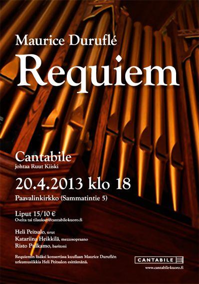 Concert poster for Cantabile choir, spring 2013