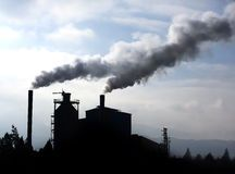 Pollutions happen because of gas from car factories.